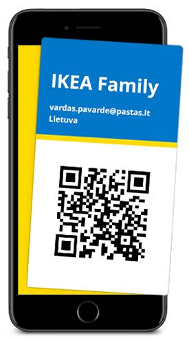 IKEA Family el. kortelė
